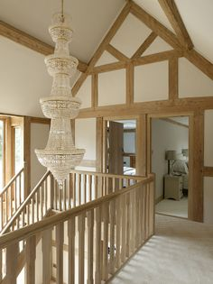 Manor Houses - Border Oak - oak framed houses, oak framed garages and structures. Barn Conversion Interiors, Barn House Conversion, Cottage Staircase, Border Oak, Cottage Shabby Chic, Oak Framed Buildings, Oak Frame House, Self Build Houses, Oak Bedroom