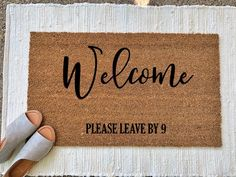 Welcome Please Leave by Doormat. Welcome Mat. House Warming gift Welcome Please Leave by Doormat. Welcome Mat. Funny Welcome Mat, Welcome Mats, Apartment Warming Gifts, Diy House Warming Gift, Gallon Of Paint, Apartment Door, Funny Doormats, Diy Décoration, Cozy House