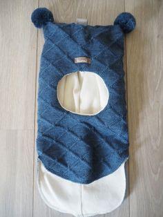 Kivat lue, blå balaclava med rutemønster og dusker | DressMyKid.no - Barn og baby - Alltid gode tilbud