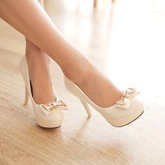 Design pumps sweet bowknot slim heel elegant shoes Z-BD625 - Bingo E-commerce