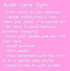 acne tips and tricks