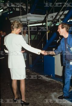 04 April 1991 Princess Diana at the offices of the Newcastle Chronicle and…