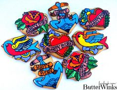 Tattoo Cookie By ButterWinks via #TheCookieCutterCompany www.cookiecuttercompany.com