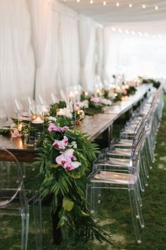 Ivy Robinson, you've done it again. This time around you've designed a wedding that puts a fresh spin on bohemian glamour, with details like atassel chandelier, gemstone invites,and a tented reception space that's the very definition of cool. Brides, do