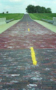 Route 66 - Brick Highway, Auburn, Illinois.