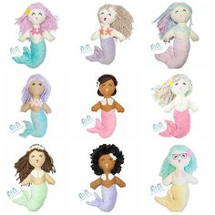 Which one is your fav? Handmade Bitsy Mermaid dolls  . .  #mermaid #mermaids #handmade #handmadesale #mothersday #motherdayweekend #mermazing #mermaidlife #ilovemermaids #mermaidtreasure #mermaidlove #toddler #igkiddies #letsbemermaids #mermaidbaby