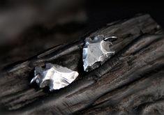 Small Sterling Silver Arrowhead Pendant, Solid Silver Flint Arrowhead Charm, Men Jewelry, Unisex Jewelry, Wholesale Available #SterlingSilverShops #jewelrywholesale