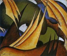 Sails (1911-12) by Arthur Dove.