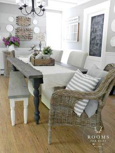 Farmhouse dining room, woodsmoke by glidden:
