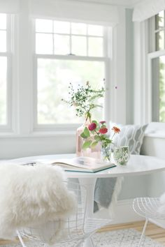 Featured on Emily Henderson + Curbly - Laura Ashley Flat Roman Shades in Casualle Milk