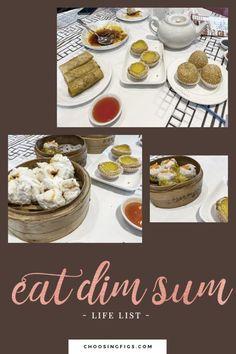 Bucket List idea: Eat Dim Sum in Chinatown. Eating Dim Sum at Cai in Chinatown.
