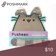 Pusheen Ears & Tail Costume Set Brand new in original packaging. Pusheen Box exclusive clip on ears and tail, very cute and soft. pusheen Other