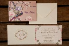 chinoiserie themed wedding invite from the stationary range by Dottie Creations www.dottiecreations.com
