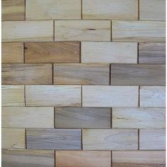 Rustix Woodbrix 3 in. x 8 in. Prefinished Maple Wooden Wall Tile-#MAPP-316233 at The Home Depot