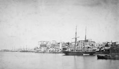 Χανιά, 1870, άποψη του λιμένος.