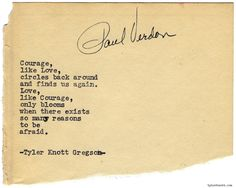 Typewriter Series #987byTyler Knott Gregson *It's official, my book,Chasers of the Light,is out! You can order it throughAmazon,Barnes and Noble,IndieBound,Books-A-Million,Paper SourceorAnthropologie*
