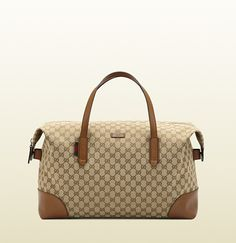 Gucci - original GG canvas carry-on duffel bag