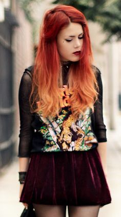 can't wait to get this done! red-> light orange/blonde ombre