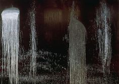 Waterfall of Fundiments Artist: Pat Steir Completion Date: 1990 Style: Lyrical Abstraction Genre: abstract Best Artist, Artist Art, 1990 Style, Waterfall Paintings, Feminist Art, All Nature, 2d Art, Detailed Image, Installation Art
