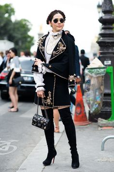 all Chanel everything. #ArayaHargate in Paris.