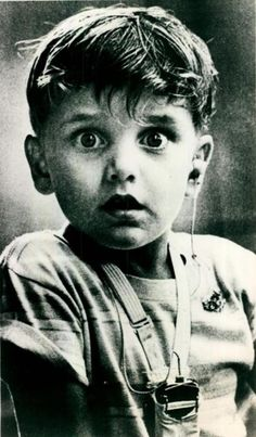 Harold Whittles hearing sound for the first time after getting a hearing aid, 1979