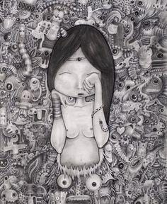Protopodmork Lullaby | cm.45x55x4,5 | 2012 | #Art #Arte #Pop #Surrealism #Lullaby Pop Surrealism