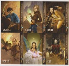 Kane Chronicles characters (Oh, well, it's not PJO or HoH, but it's Rick Riordan.)