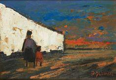 Promenade le long du mur blanc by Paul Permeke