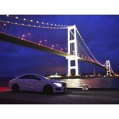 Instagram【hasshi0620】さんの写真をピンしています。 《#室蘭 #夜景 #白鳥大橋 #nightview #difficult #橋 #beautiful #bridge #mercedes #benz #amg #japan #風景 #景色 #写真 #秋 #紅葉 #autumn #cars #instacars #cool #good #ファインダー越しの私の世界 #写真好きな人と繋がりたい #mycar #お気に入り #photo #picture #港 #埠頭》