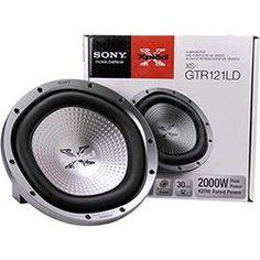 "Subwoofer e Woofer Subwoofer Sony 12"" XS-GTR121LD 2000W"