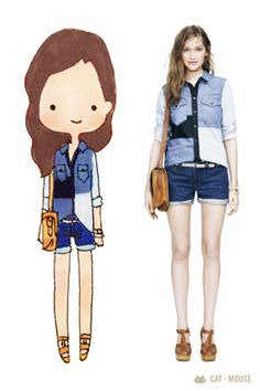 Madewell 2013 Spring Lookbook... #fashionillustration #customart #customillustrations #customstationery