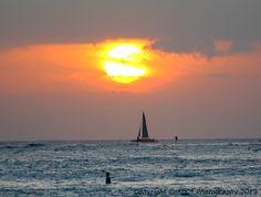 Sunset in Waikiki (Oahu, HI)