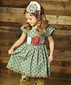 Another great find on #zulily! Aqua Delphine Party Dress - Infant, Toddler & Girls #zulilyfinds