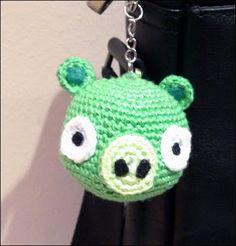 Patron Angry Birds Amigurumi : llaveros, portalapices.. ENCONTRADO POR INTERNET on ...