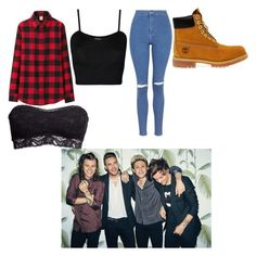 """""""W/ big brothers✌"""" by briannastyle ❤ liked on Polyvore featuring Uniqlo, Topshop, Timberland, WearAll and H&M"""