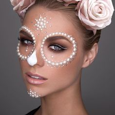 Theatrical Sugar Skull Makeup