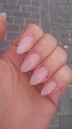 Natural acrylic almond nails