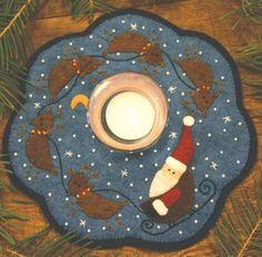Santa and Reindeer Penny Rug