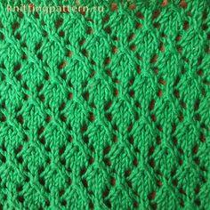 Узор для вязания спицами Мелкие ромбики