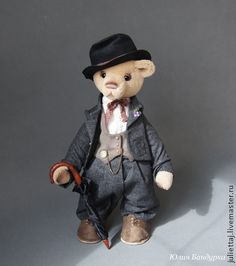 Teddy Bears handmade.  Order Charlie.  Yulia Bandurka.  Fair Masters.  Teddy Bears, minishtof