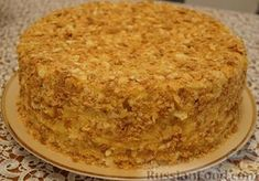 Wedding birthday cakes - Popular recipes for baking masters Napoleon Torte, Bridal Shower Desserts, Kids Cooking Recipes, What To Cook, Sweet Life, How To Cook Chicken, Cornbread, Banana Bread, Food And Drink