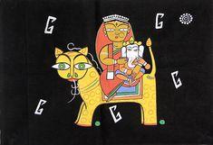 Ganesha with Durga Durga Painting, Saree Painting, Baby Ganesha, Lord Ganesha, Shiva Art, Hindu Art, Jamini Roy, Indian Folk Art, Indian Art Paintings