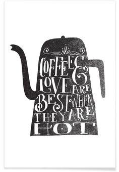 coffee & love als Premium Poster von Matthew Taylor Wilson | JUNIQE