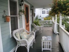 Front-Porch-Furniture-With-Wood-Doors