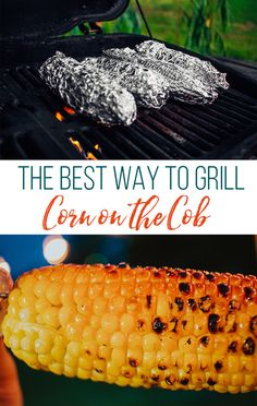 This is one of my best tricks to grilling corn on the cob. It keeps the corn moist but also adds a nice light char if done right. Use this method on how to cook corn on the grill at your next BBQ! Makes a great side dish at a cookout too. Grilled Corn On Cob, Grilled Pork, Grilled Vegetables, Vegetables On The Grill, Grilling Tips, Grilling Recipes, Cooking Recipes, Healthy Grilling, Cooking Corn On Bbq