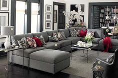 Bassett Furniture \xbb gray living room - white walls