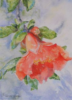 Original Watercolor Painting by C Jeanne Shanks by BatiKePallini