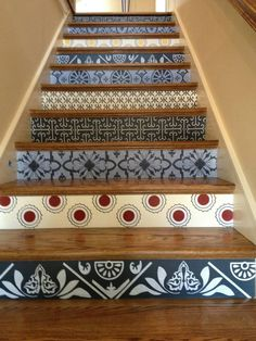 Painted stairs by Diane Eichinger Beard .