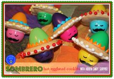 hoopla palooza: sombrero hat egghead cookies with a candy surprise hidden inside!