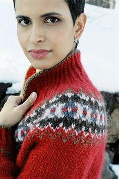 Ravelry: Ski Jacket pattern by Veronik Avery Fair Isle Knitting, Knitting Yarn, Hand Knitting, Only Cardigan, Sweater Cardigan, Icelandic Sweaters, Fair Isle Pattern, Jacket Pattern, Jumpsuit Pattern